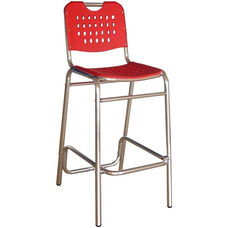 Palm Beach Collection Red Outdoor Barstool