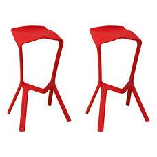 Aspect Ultra Modern Outdoor Red Barstool - Set of 2