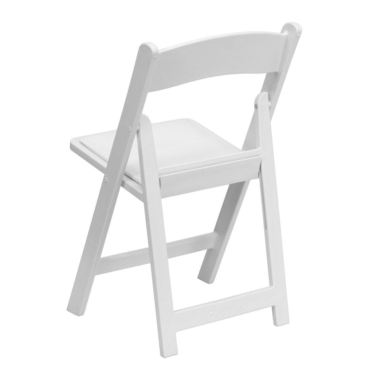 White Resin Folding Chair Le L 1 White Gg