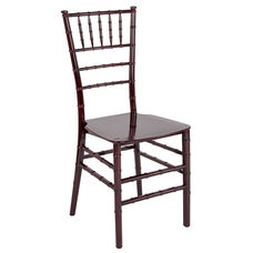 "HERCULES Series Mahogany Resin Stacking Chiavari Chair with <span style=""color:#0000CD;"">Free </span> Cushion"