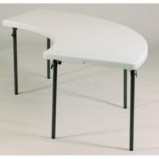 Blow-Molded Plastic Top Serpentine Food Service Table - 30