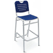 Palm Beach Collection Blue Outdoor Barstool