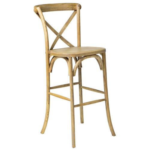 Our Rustic Sonoma Solid Wood Cross Back Barstool - Tinted Raw is on sale now.