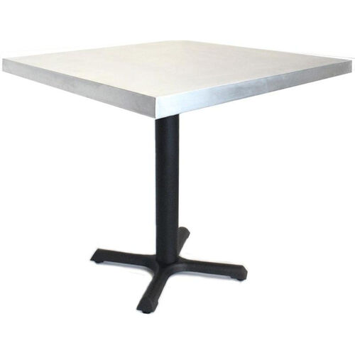 Our Rectangular Zinc Table with Black Base - 24
