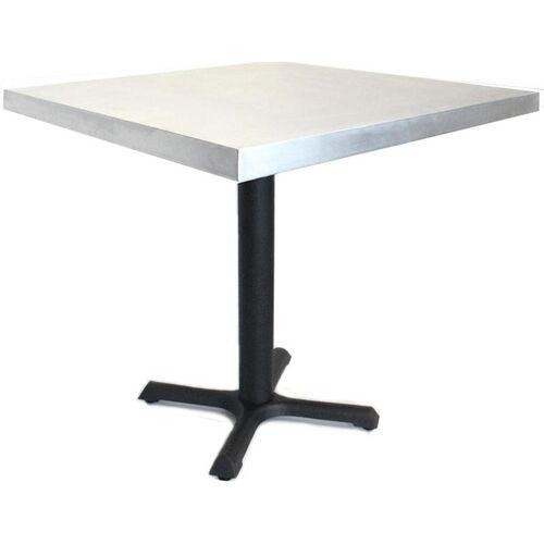 Rectangular Zinc Table with Black Base - 24