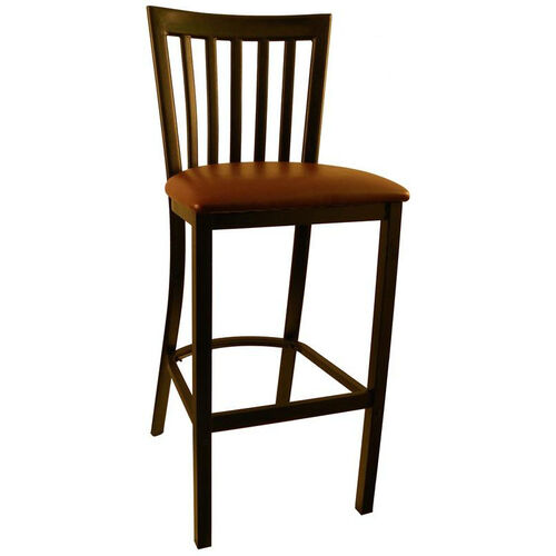 Our Metal Schoolhouse Barstool with Burgundy Vinyl Seat is on sale now.