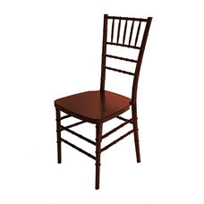 1000 lb. MAX Mahogany Resin Steel Core Chiavari Chair