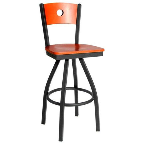 Our Darby Metal Frame Swivel Barstool - Circle Wood Back and Wood Seat is on sale now.