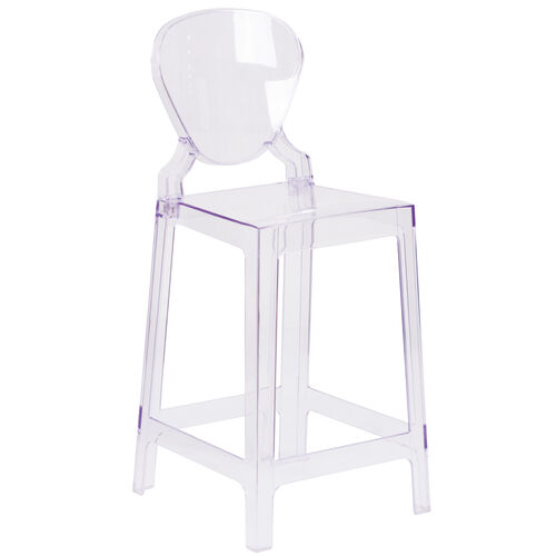 Our Ghost Counter Stool with Tear Back in Transparent Crystal is on sale now.