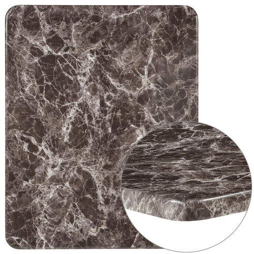 """Our 24"""" x 30"""" Rectangular Gray Marble Laminate Table Top is on sale now."""