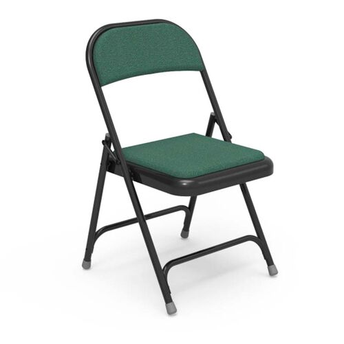 Our Multi-Purpose Steel Folding Chair with Sedona Loden Fabric Pads and Black Frame - 17.75