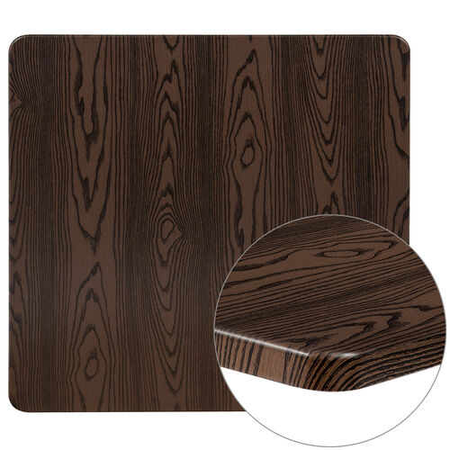 """Our 36"""" Square Rustic Wood Laminate Table Top is on sale now."""