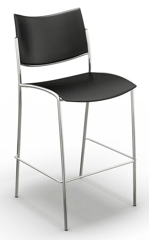 Our Escalate Stool with Plastic Seat - Black is on sale now.