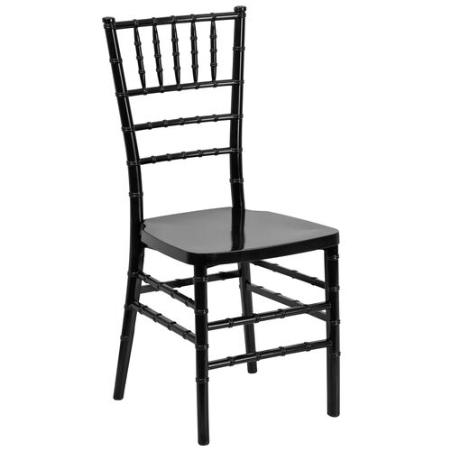 HERCULES PREMIUM Series Black Resin Stacking Chiavari Chair