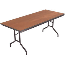 Sealed and Stained Plywood Top Table with Vinyl T - Molding Edge - 36''W x 72''D x 29''H