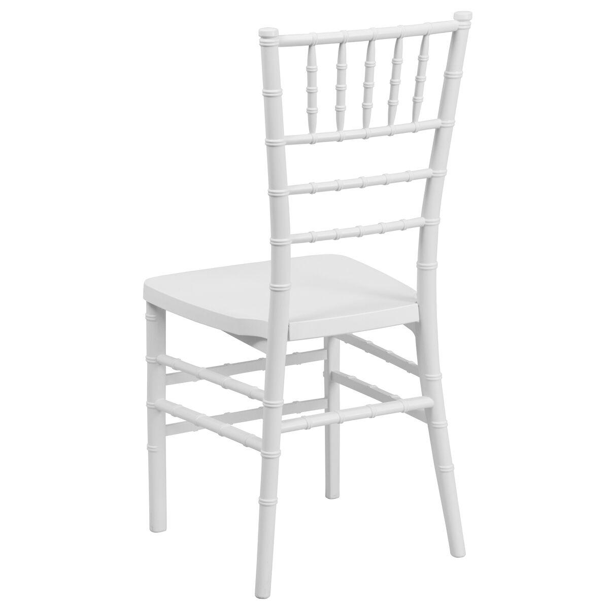 Images Hercules Premium Series White Resin Stacking Chiavari Chair