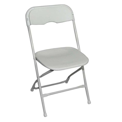 Our Champ Series Versatile Resin Wedding Folding Chair with Foot Caps - Bright White is on sale now.