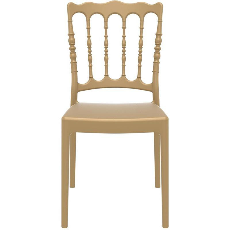 Our Napoleon Outdoor Resin Stackable Wedding Chair   Gold Is On Sale Now.