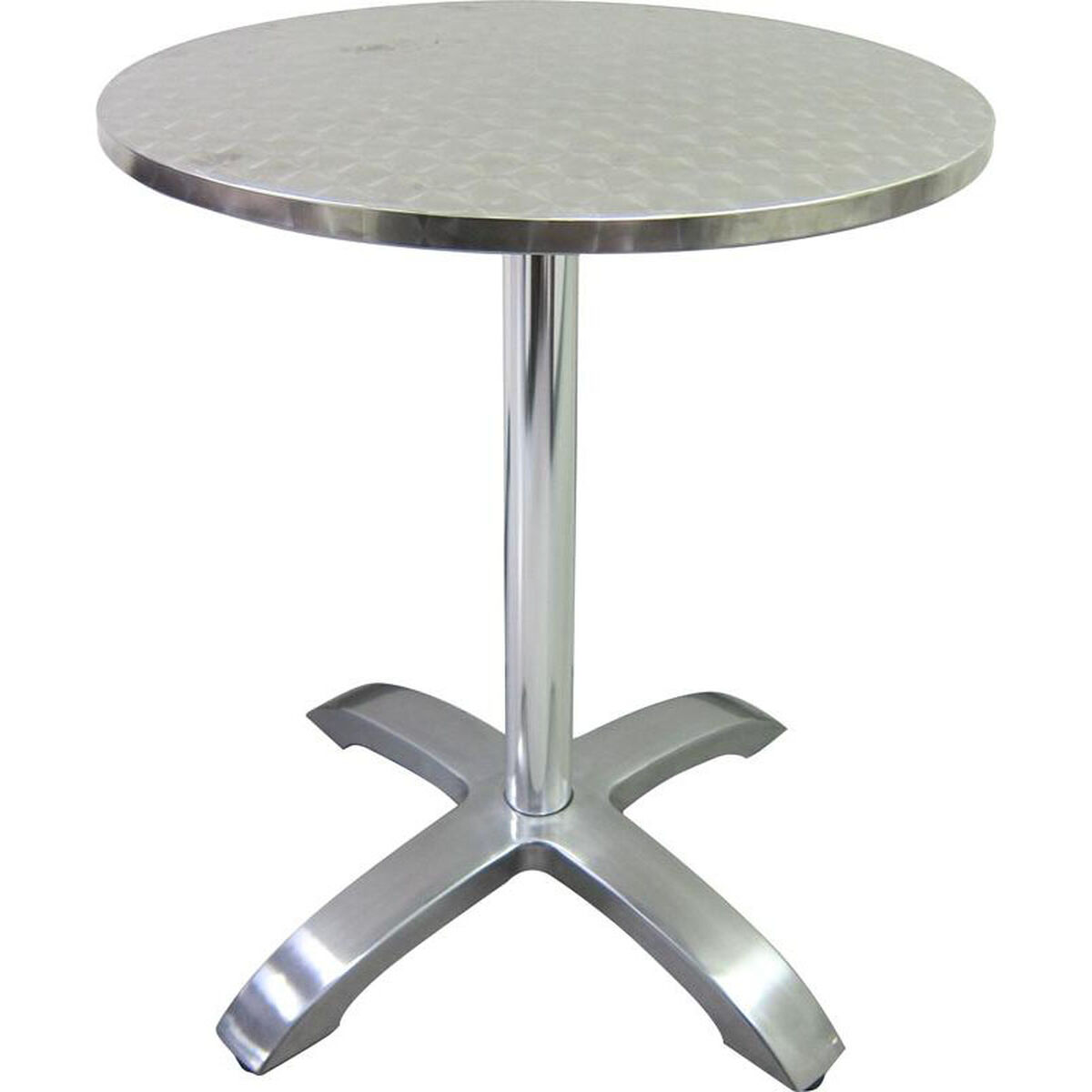 Our Stainless Steel Round Table Top With Aluminum Base Is On Sale Now