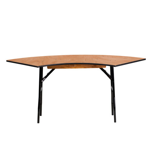 5.5 ft. x 2 ft. Serpentine Wood Folding Banquet Table
