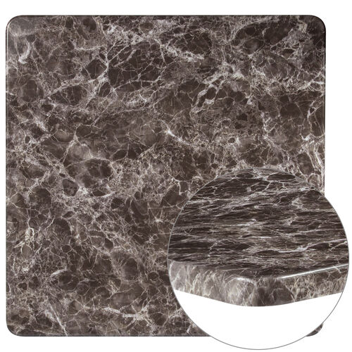 """Our 36"""" Square Gray Marble Laminate Table Top is on sale now."""