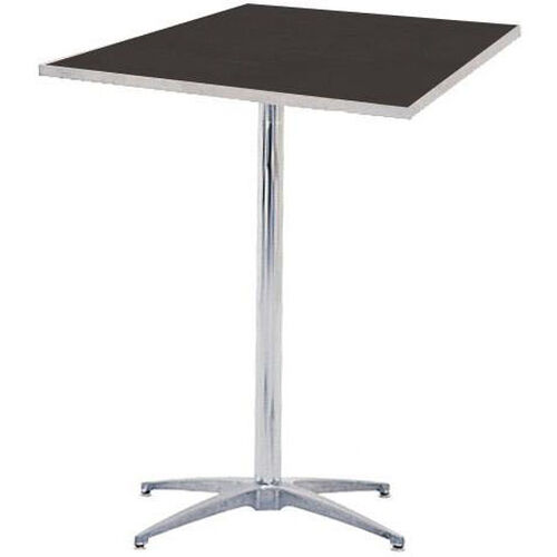 Our Standard Series Square Pedestal Table with Chrome Plated Steel Column and Laminate Top - 24