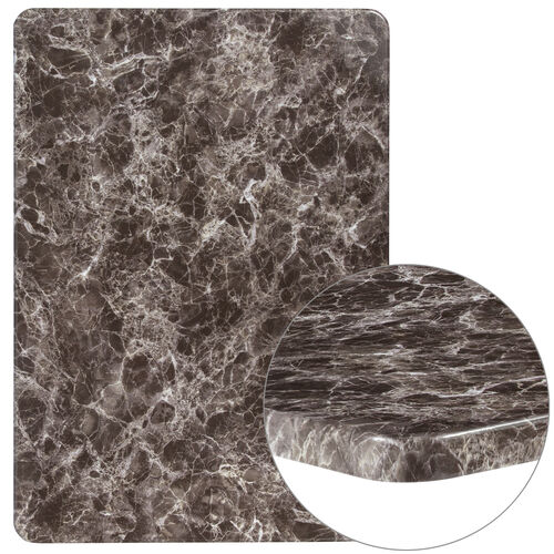 """Our 30"""" x 42"""" Rectangular Gray Marble Laminate Table Top is on sale now."""