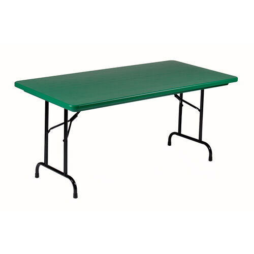 Standard Fixed Height Blow-Molded Plastic Top Rectangular Folding Table - 24
