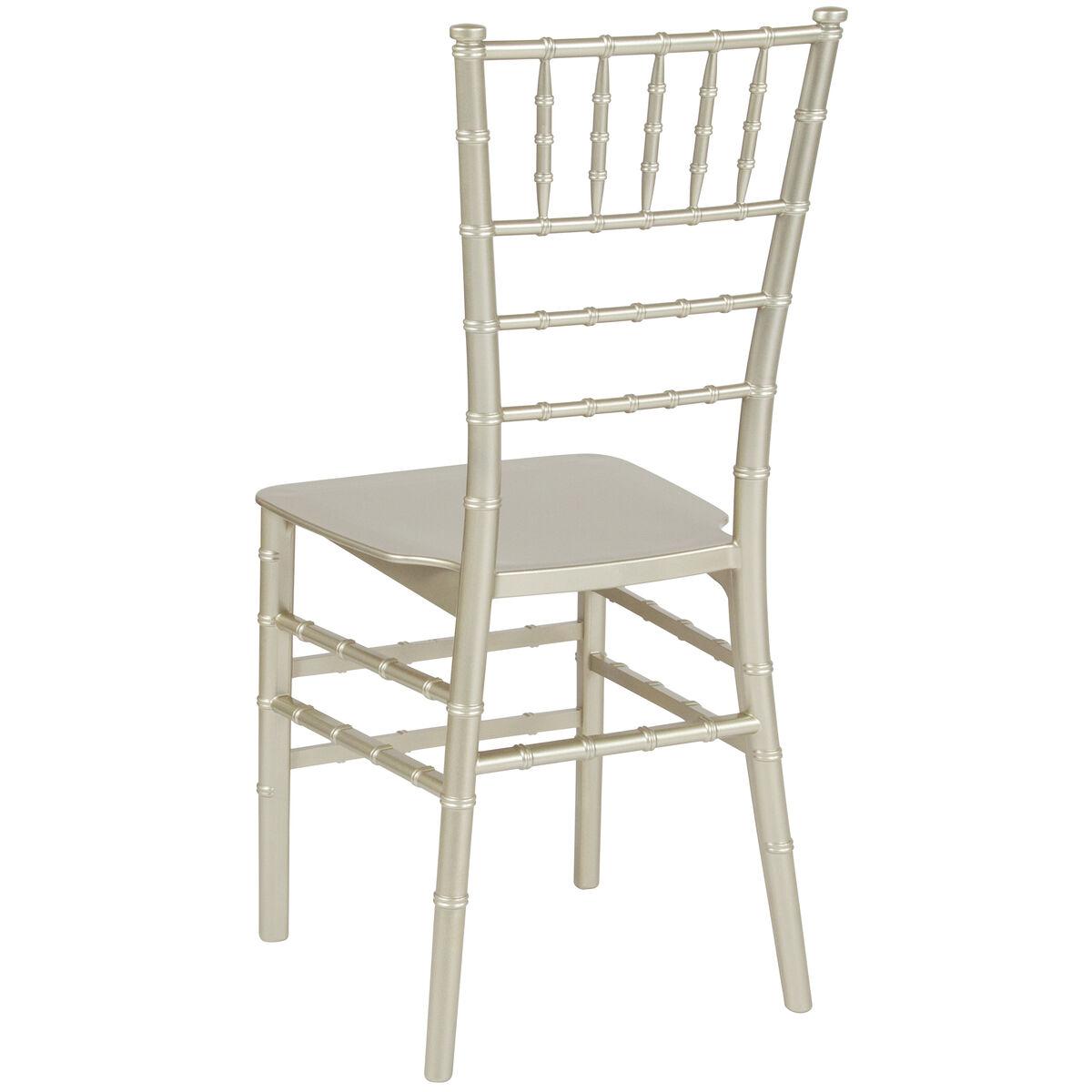 Hercules Series Champagne Resin Stacking Chiavari Chair