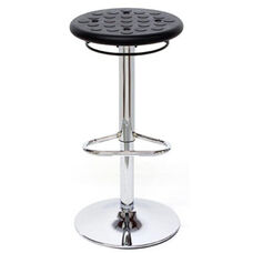 Octave Adjustable Bar Stool with a Round Polyurethane Seat