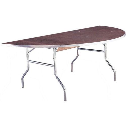 Our Standard Series Half Round Banquet Table with Plywood Top - 30