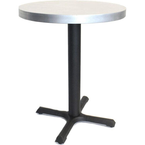 Our Round Zinc Cafe Table with Steel Base - 24