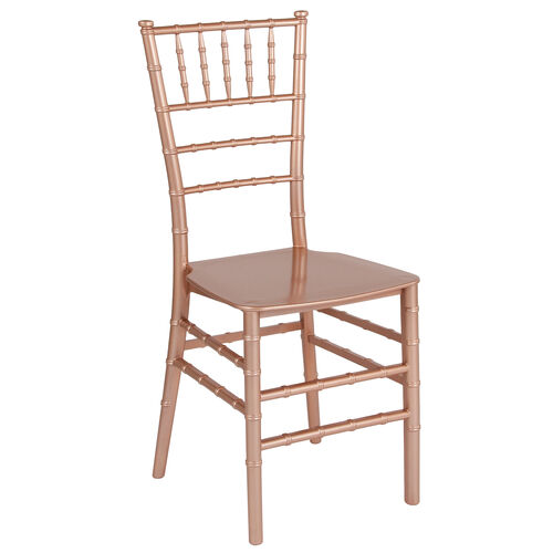 "Our HERCULES Series Rose Gold Resin Stacking Chiavari Chair with <span style=""color:#0000CD;"">Free </span> Cushion is on sale now."