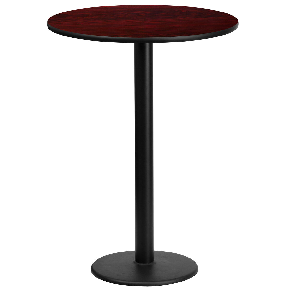 Standard Furniture Cosmo Adjustable Height Round Wood Top: T & D Restaurant Equipment 24'' Round Mahogany Laminate