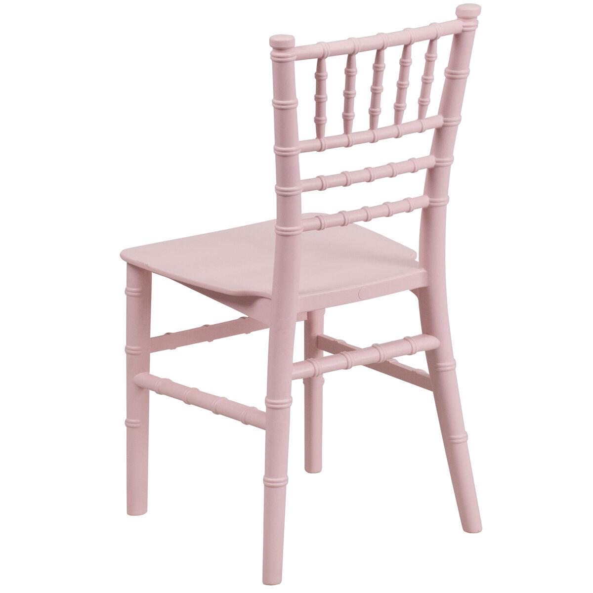 Kids Pink Resin Chiavari Chair Inset 2