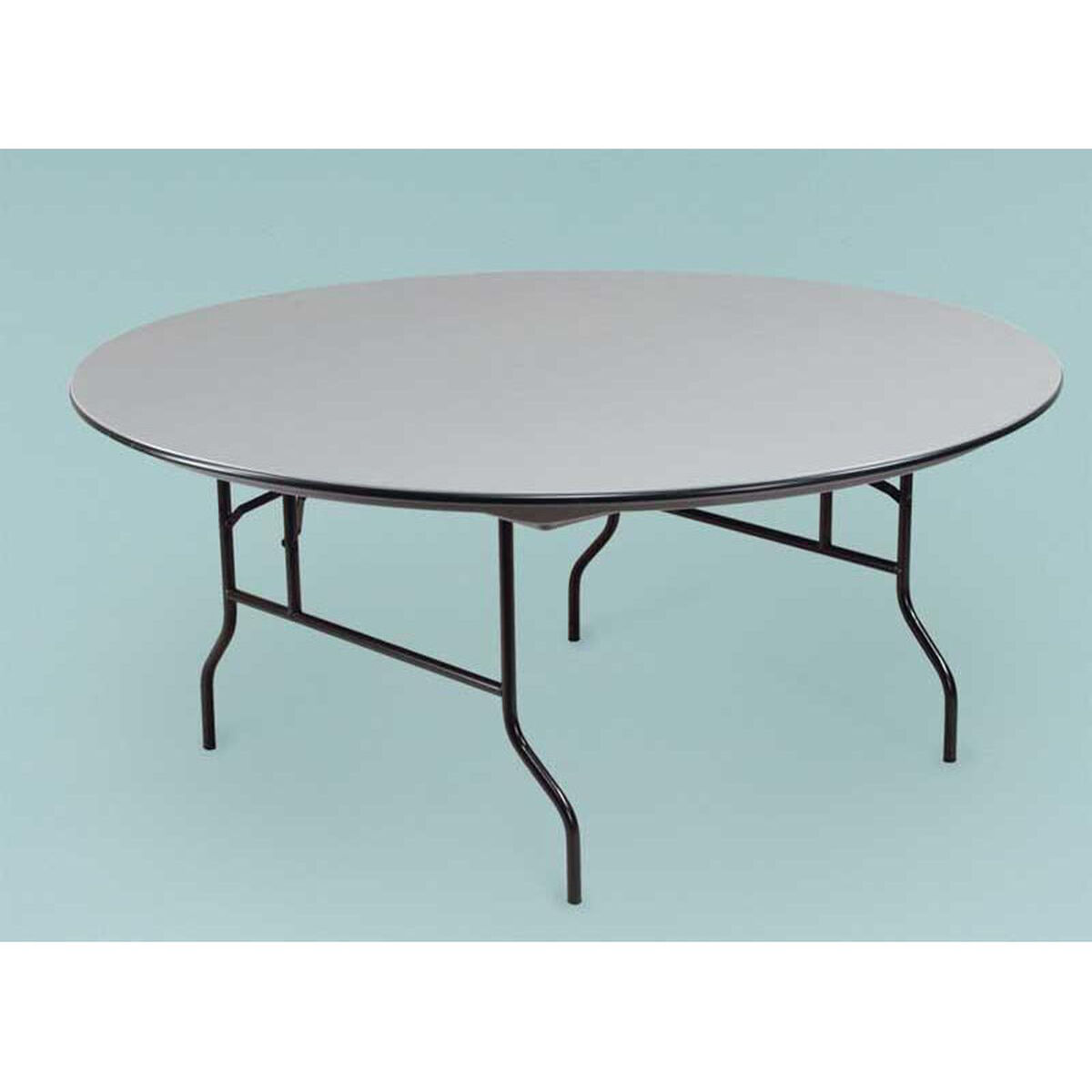 NLW Round Plastic Folding Table R72NLW | BestChiavariChairs.com