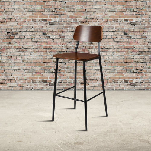 Our Industrial Barstool with Gunmetal Steel Frame and Rustic Wood Seat is on sale now.