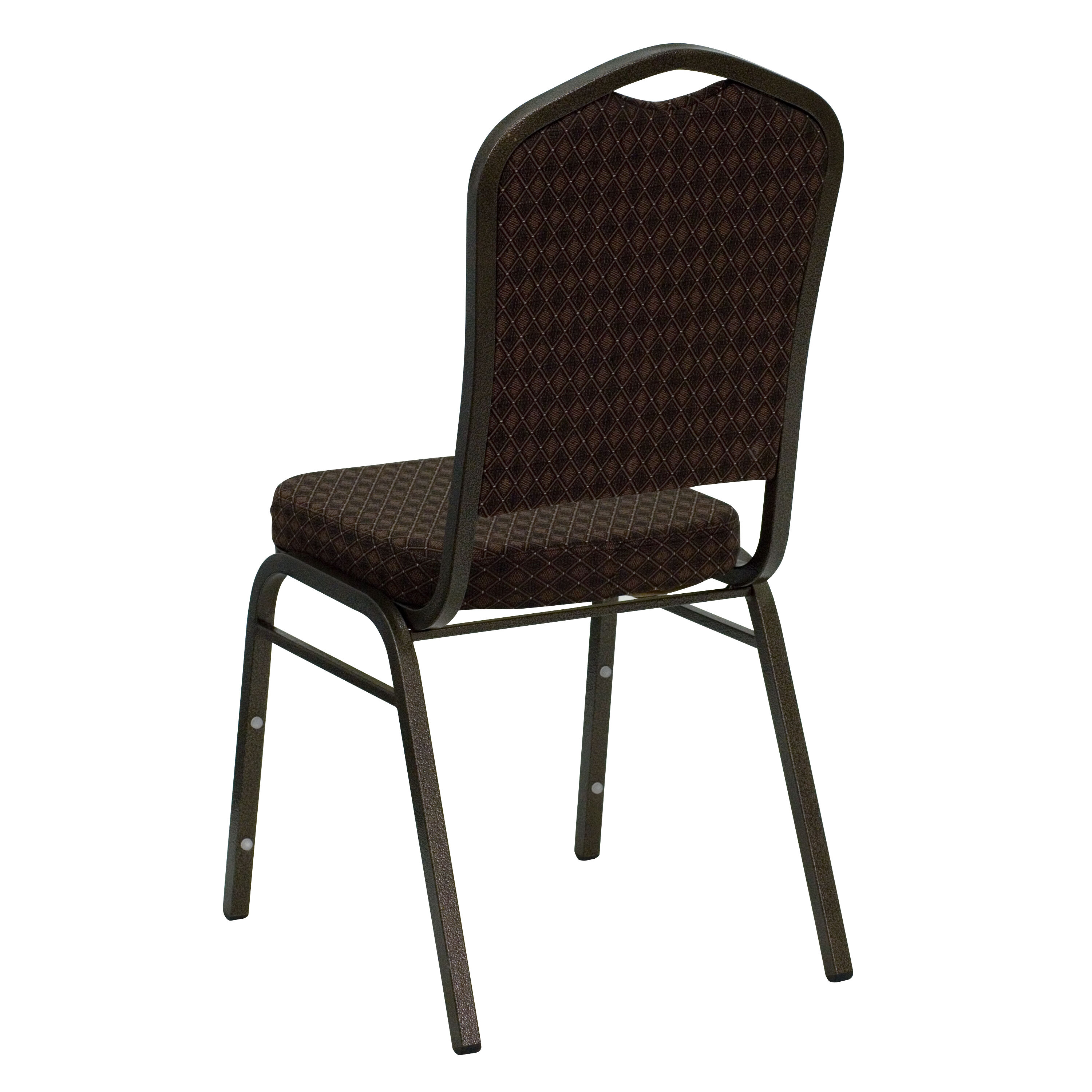 ... Our HERCULES Series Crown Back Stacking Banquet Chair In Brown  Patterned Fabric   Gold Vein Frame ...