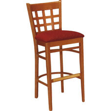 1854 Bar Stool w/ Upholstered Seat - Grade 1
