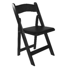 American Classic Wood Folding Chair - Set of 4 - Black