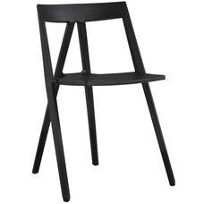 Milan Resin Polypropylene Stackable Event Chair - Black
