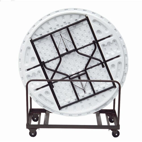 Our Welded Iron Folding Table Truck for Edge Stacking Round Tables - 28