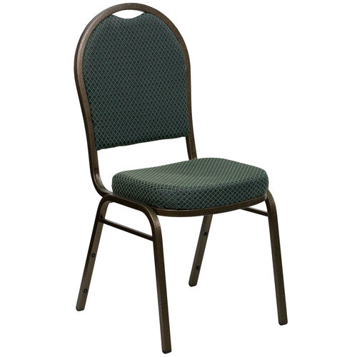 Our HERCULES Series Dome Back Stacking Banquet Chair in Green Patterned Fabric - Gold Vein Frame is on sale now.