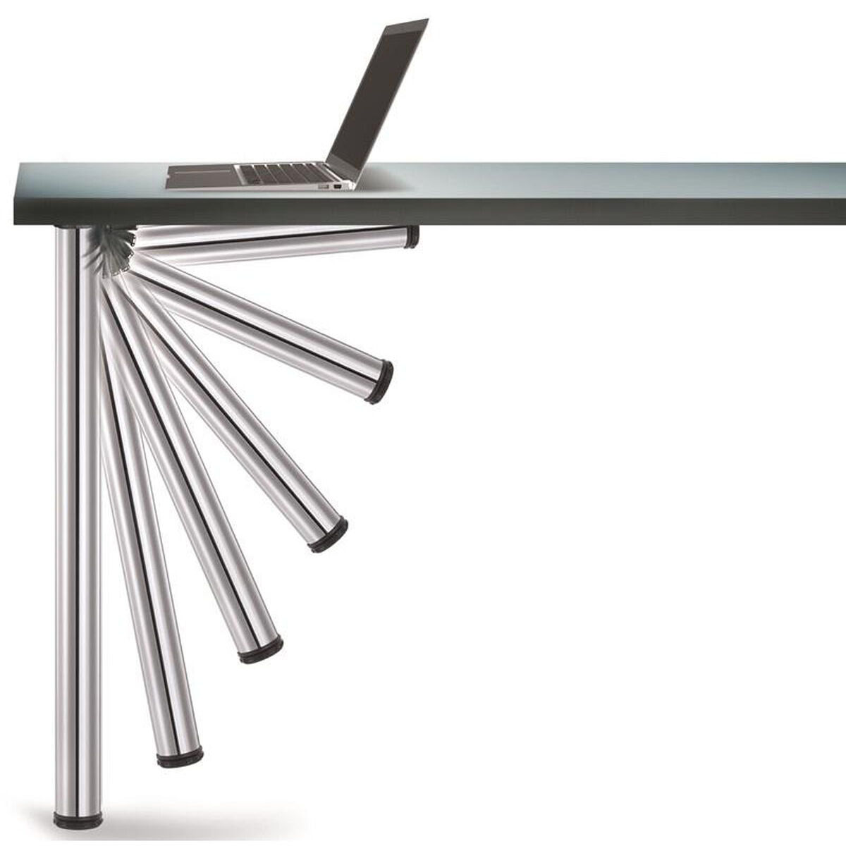 Our Chrome Push On Set Of 4 Foldable Table Legs With Mounting Hardware 27 75