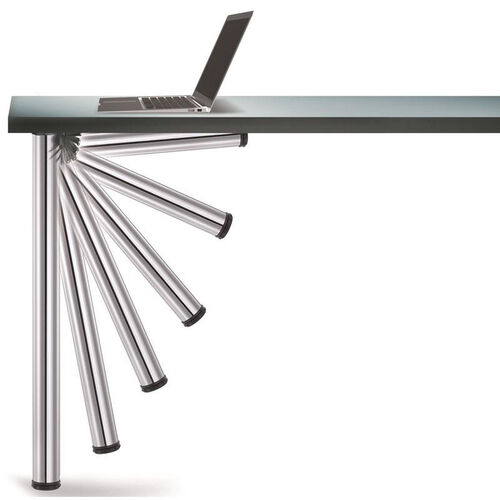 Our Chrome Push-Button Set of 4 Foldable Table Legs with Mounting Hardware - 27.75