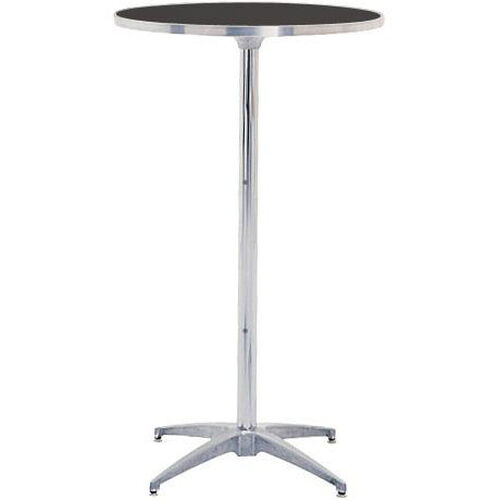 Our Standard Series Height Adjustable Round Pedestal Table with Chrome Plated Steel Column and Laminate Top - 24