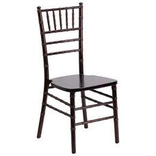 "HERCULES Series Walnut Wood Chiavari Chair with <span style=""color:#0000CD;"">Free </span> Cushion"