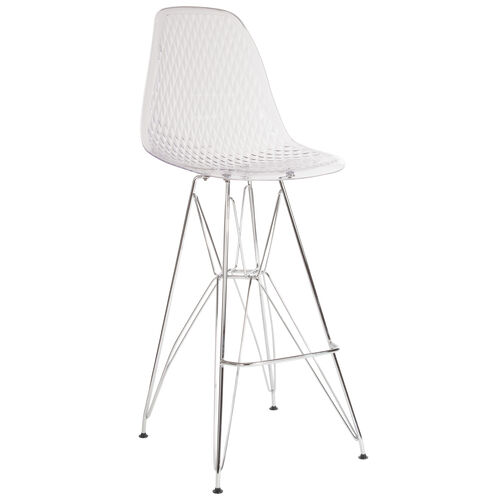 "Our 30.25"" High Clear Acrylic Barstool with Chrome Legs is on sale now."