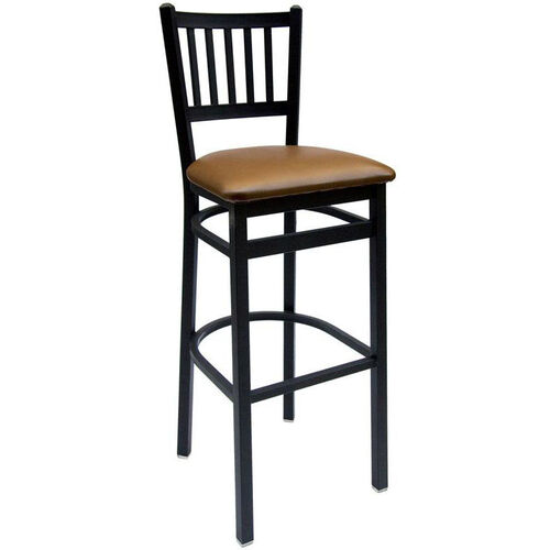 Our Troy Metal Slat Back Barstool - Vinyl Seat is on sale now.