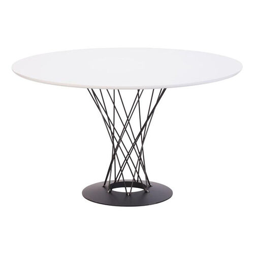 Spiral Dining Table in White